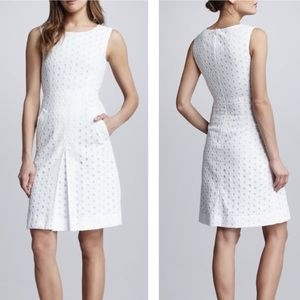 DIANE VON FURSTENBERG Carpreena White Eyelet Dress